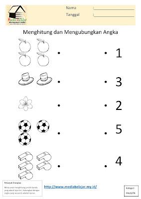 Menghitung dan Menghubungkan Angka Bagian 1