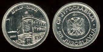 Yugoslavia km180 1 Dinar (2000)