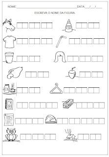Hipótese de Escrita Silábica Alfabética - Escreva o nome da figura 12