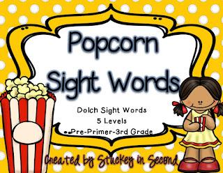 Popcorn Sight Words