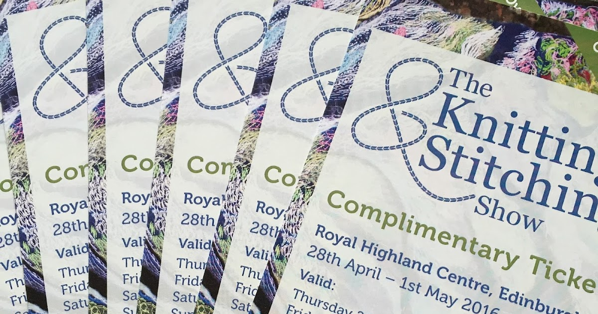 The Knitting And Stitching Show The Royal Highland Centre : Emma Vining Hand Knitting: Ticket Giveaway for the Edinburgh Knitting & S...