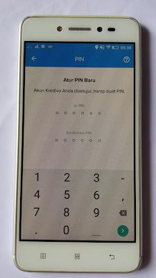 cara membuat pin di aplikasi kredivo android