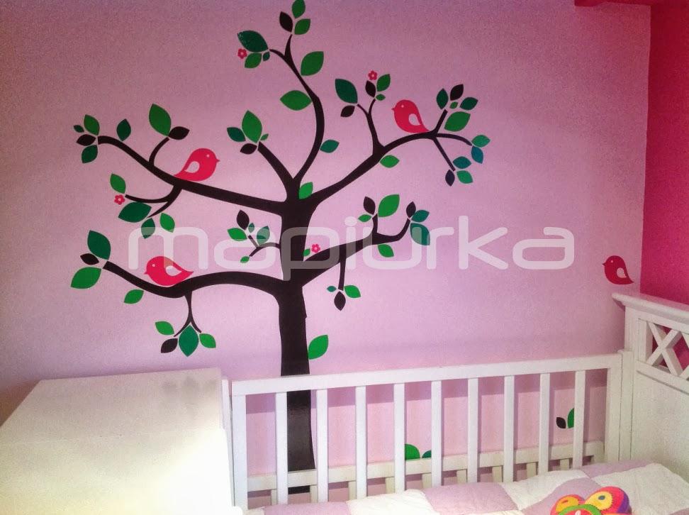 Mapiurka adhesivos decorativos ba habitaci n con arbol for Habitacion con vinilo