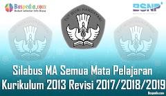 Lengkap - Silabus MA Semua Mata Pelajaran Kurikulum 2013 Revisi 2017/2018/2019