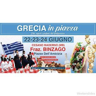 Grecia in Piazza 22-23-24 giugno Cesano Maderno (MB)