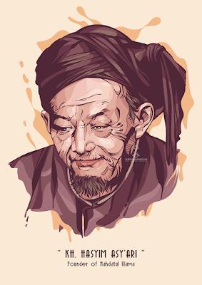 Vector KH Hasyim Asy'ari
