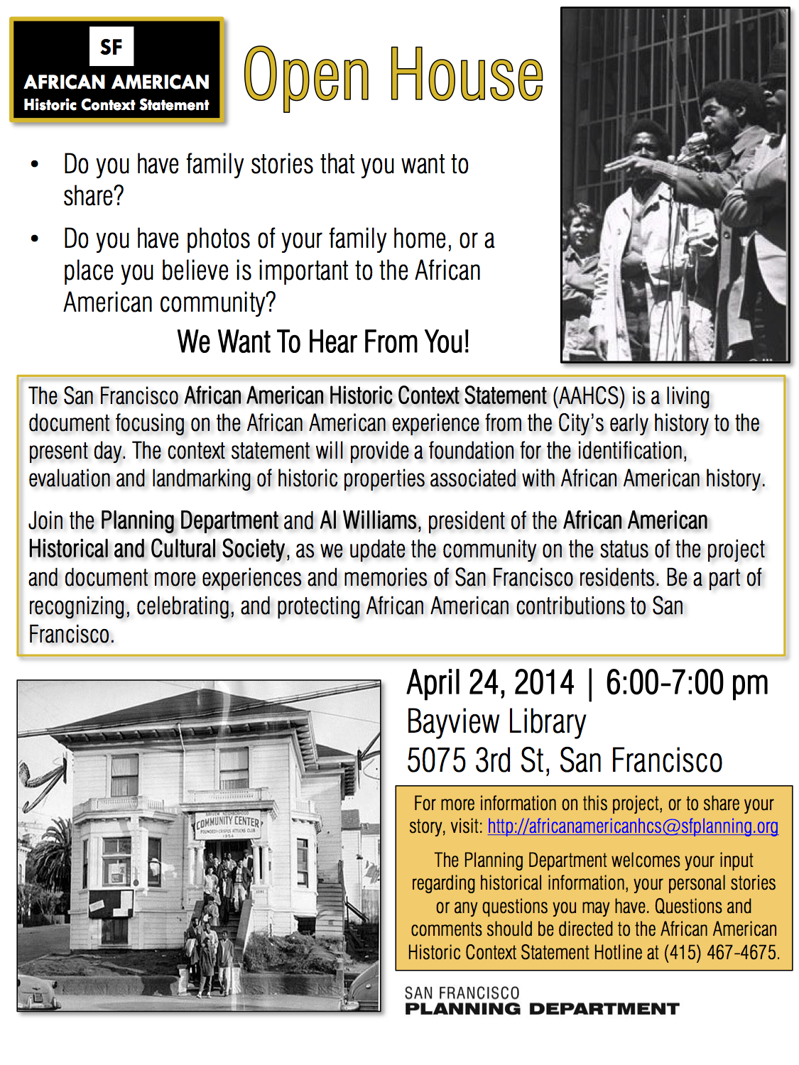 D10 Watch San Francisco African American Historic Context