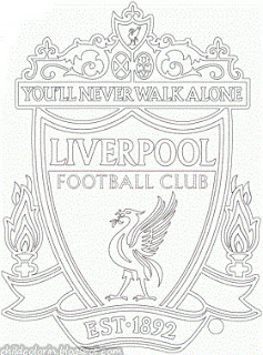 Emblem of Liverpool FC Coloring