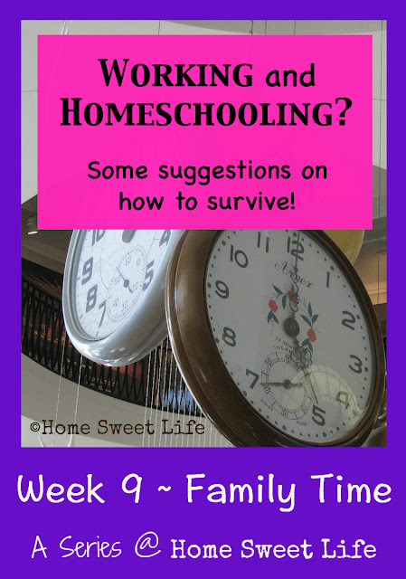 Working and Homeschooling, Family time