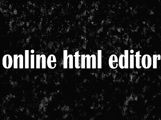 How to make online html editor