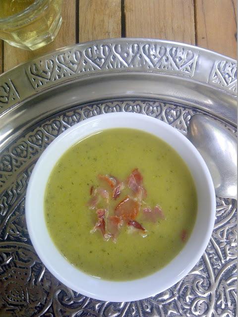 soep broccoli courgette krokante ham