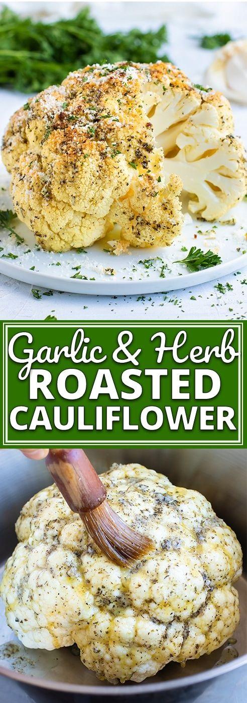 Garlic & Herb Whole Roasted Cauliflower