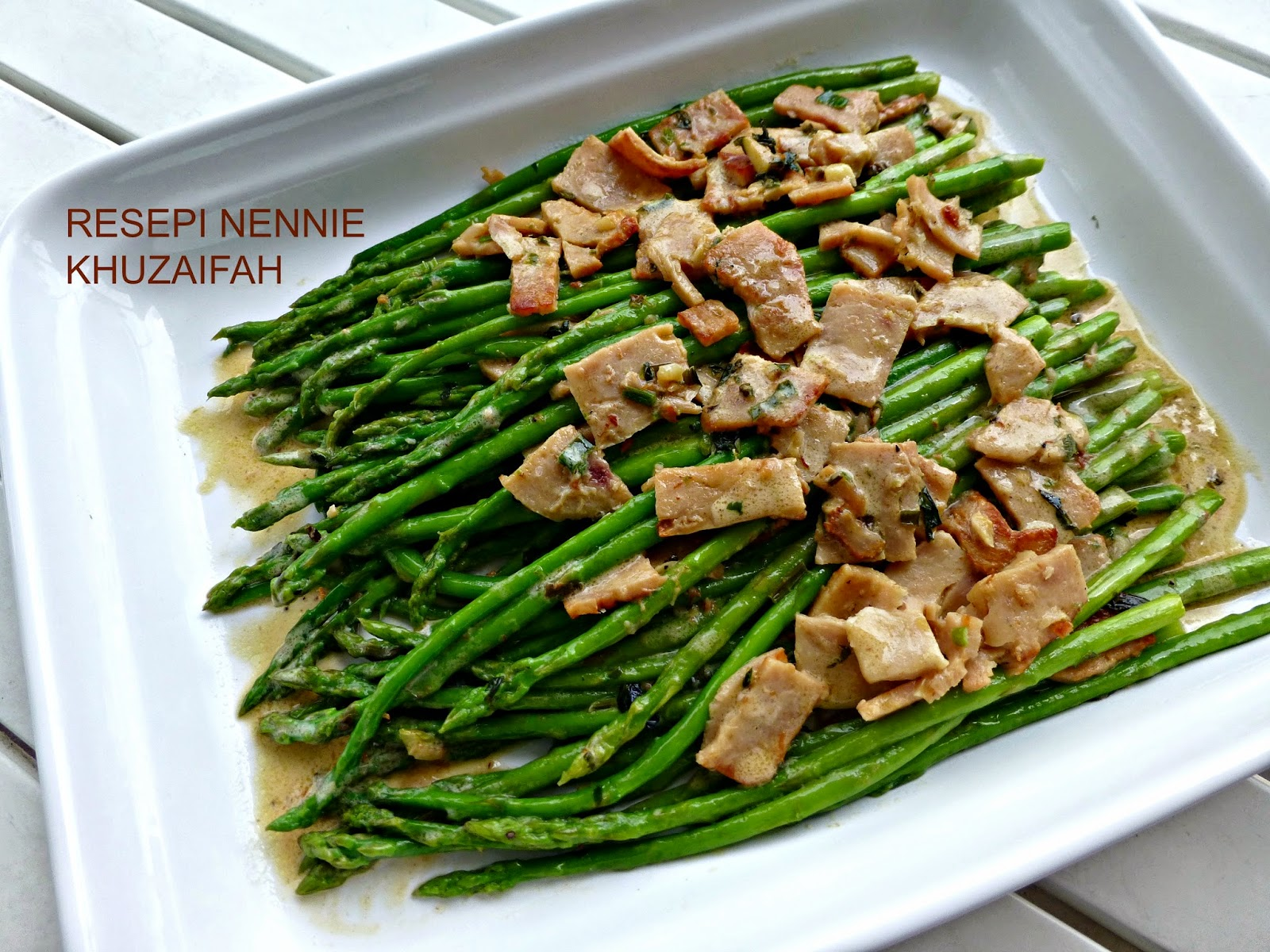 Tumis Asparagus Sos Cream Recipes Tumis Asparagus Sos Cream Recipe