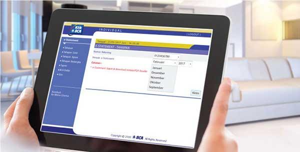 Biaya Cetak Rekening Koran Bank BCA