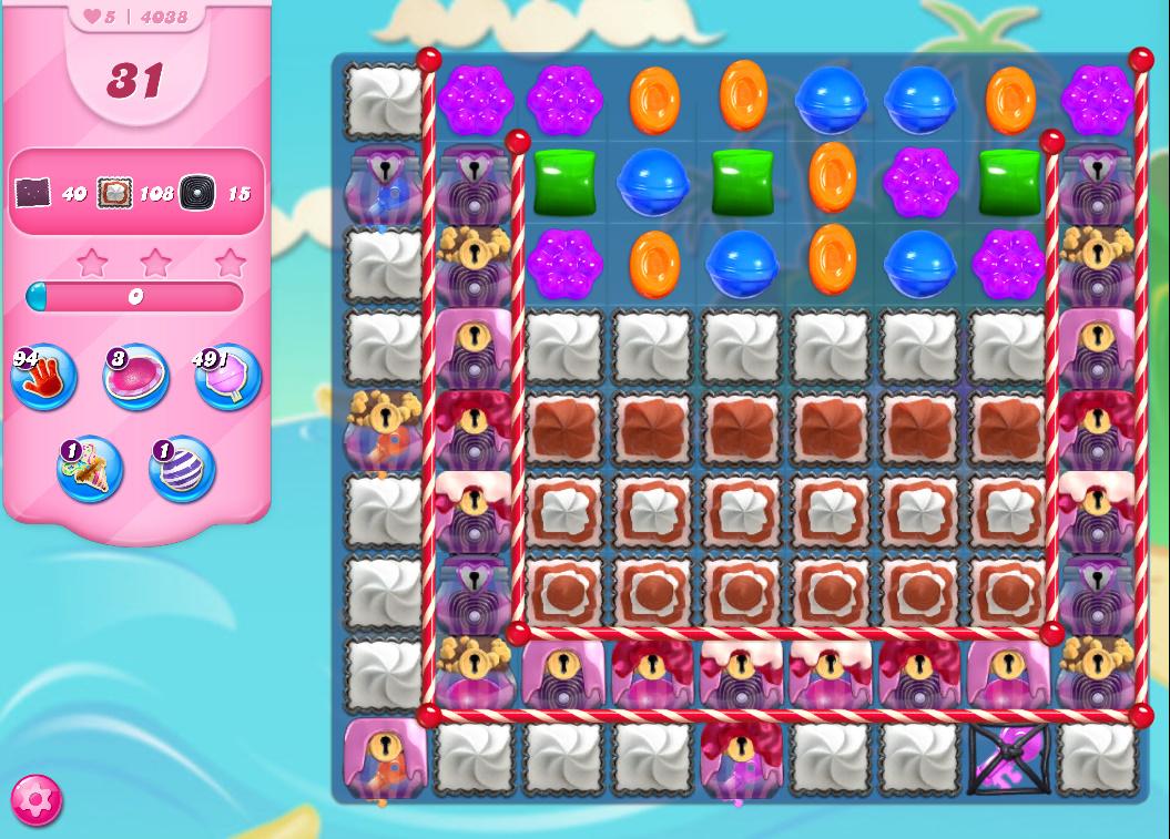 Candy Crush Saga level 4038