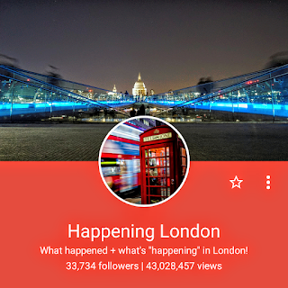 The follower numbers for the Happening London Google Plus page.
