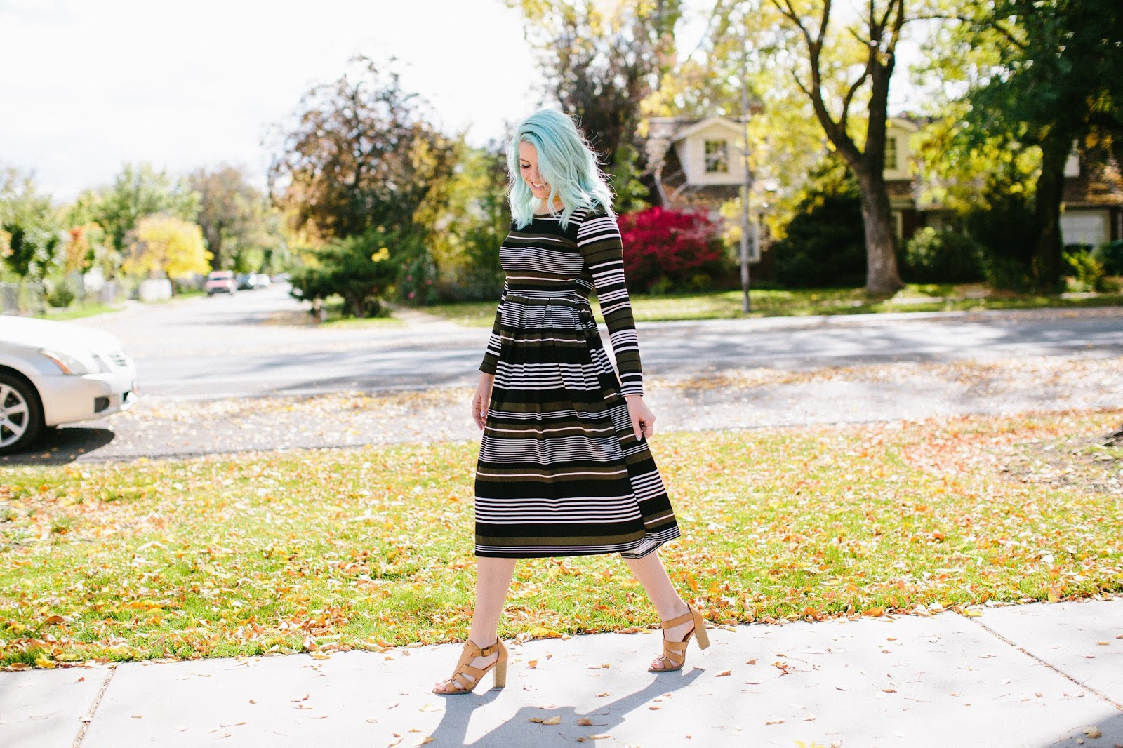 Striped Dress, Utah Fashion Blogger, She Traveled