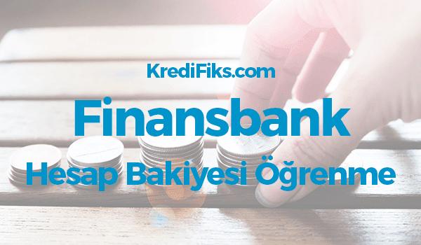 Finansbank Bakiye Sorgulama SMS ile