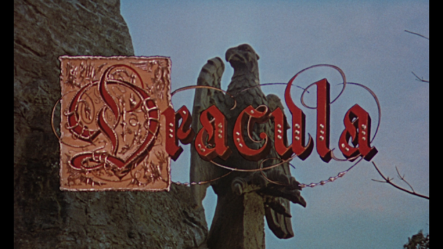 Dracula title card in all of its elegance