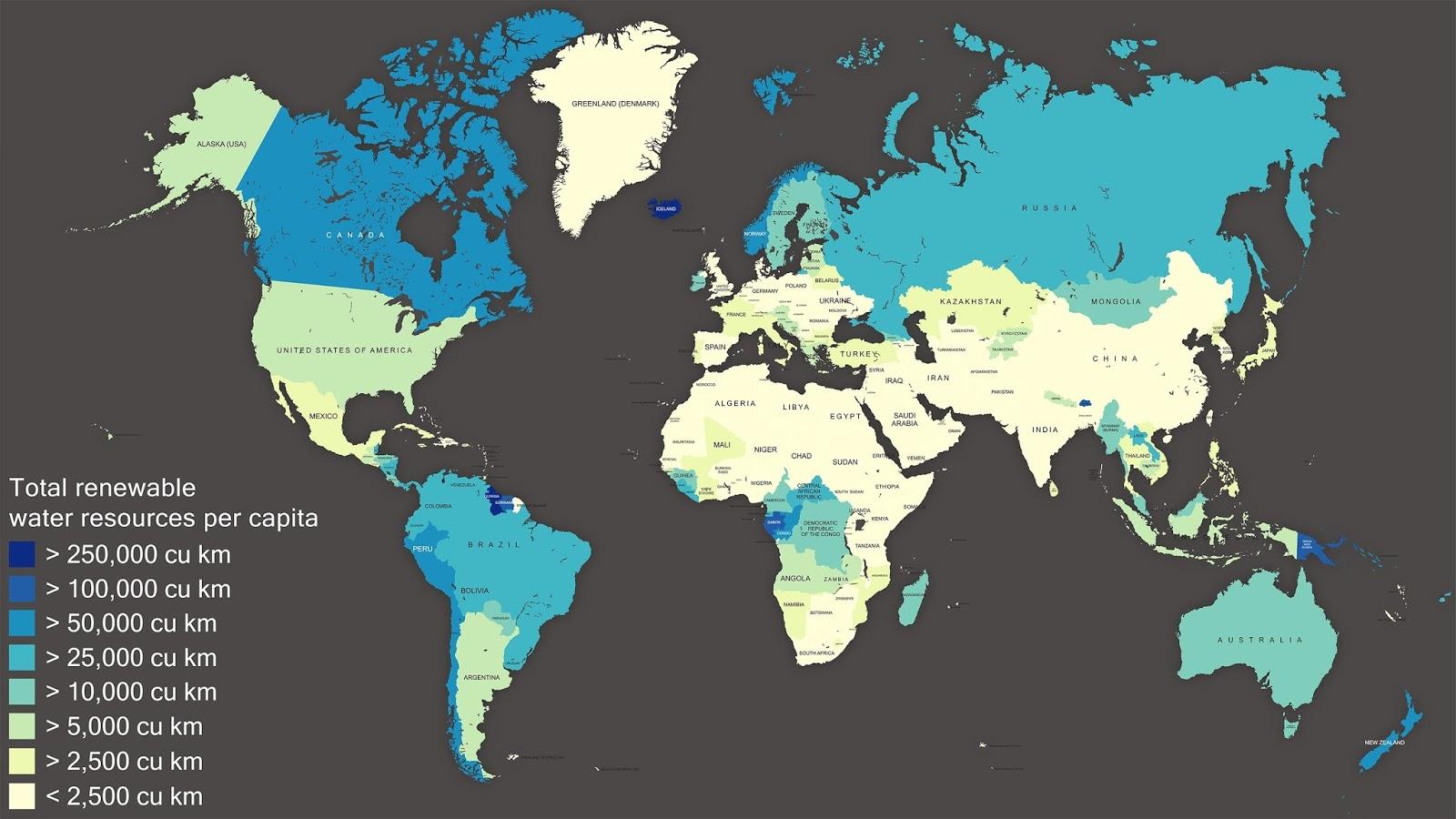 Renewable water resources per capita