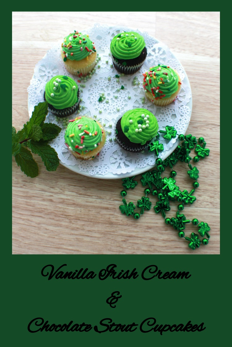 Irish cream and Stout Beer Guinness Cupcakes chocolate and vanilla recipes