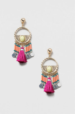 The Best Jewellery Buys from the High Street this SS16 - Topshop - Bright Tassel Drop Earrings - £8.50