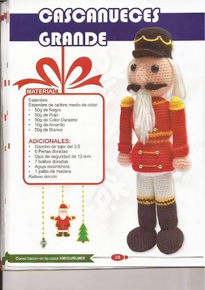 Amigurumi del Cascanueces a crochet (Patron en español)