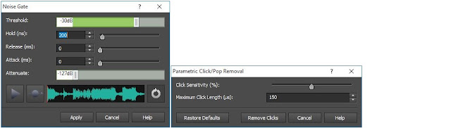 Screenshot demonstrating how to remove background noise from an audio file or recording