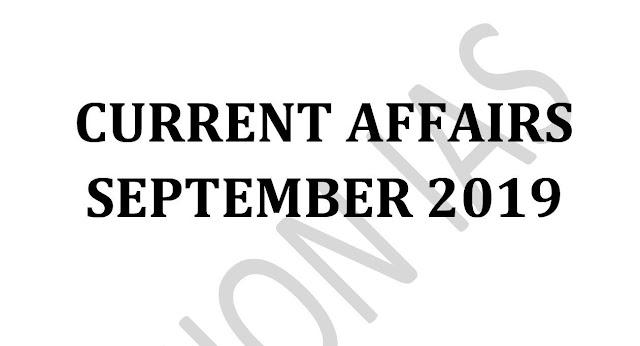 Vision IAS Current Affairs September 2019 pdf