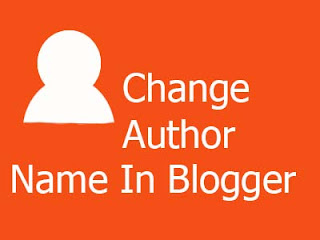 how to change author name