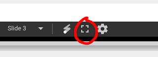 full screen button slide