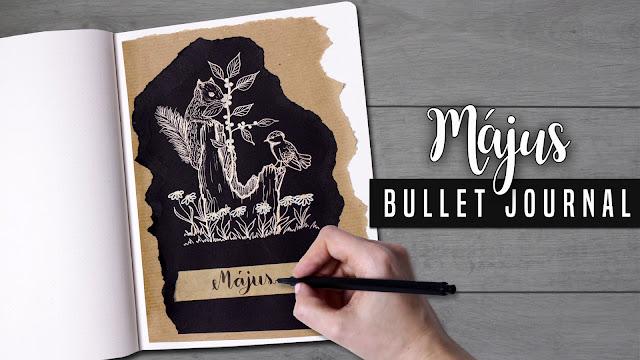 2018 MÁJUS - BULLET JOURNAL TERVEZŐ