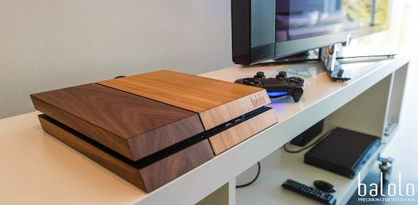 Ahşap kaplamalı Playstation 4 kasası