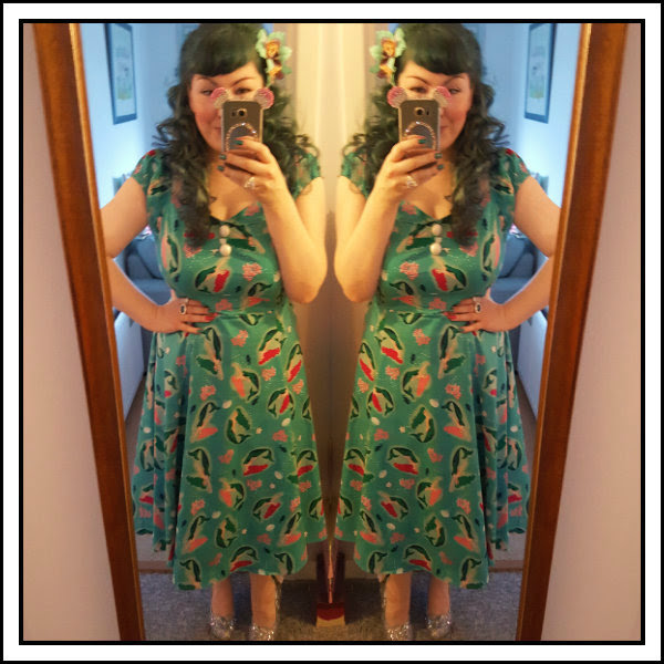 ootd collectif dolores mermaid dress and irregular choice sparkling slipper
