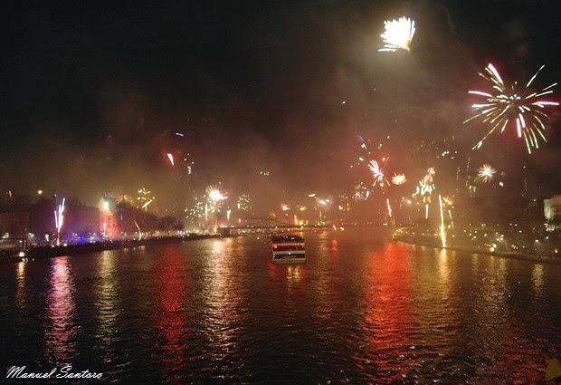 Francoforte sul Meno, Capodanno lungo l'Untermainbrücke
