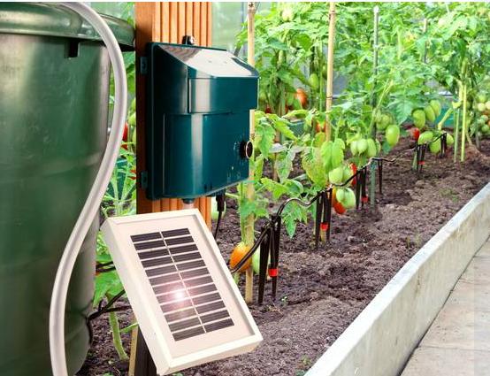 Jard n solar riego por goteo con energ a solar en mi for Riego por goteo jardin