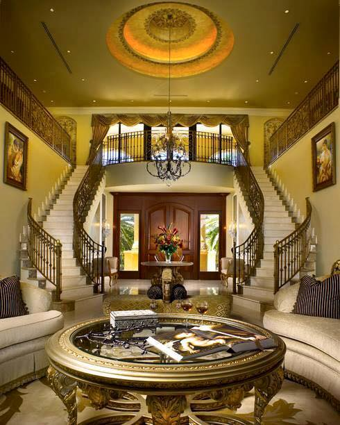 20 Magical And Crafty Ways To Decorate An Indoor Staircase: Beautiful Mansion Spiral Staircases