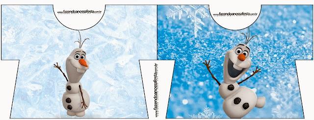 Tarjeta con forma de Camisa de Olaf.