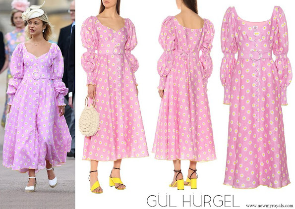 Lady Amelia Windsor wore Gül Hürgel Pink Floral Linen Midi Dress
