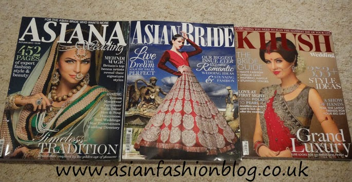 Over The Last Month I Have Been Lucky Recipient Of Autumn 2017 Issues Three Top Asian Bridal And Wedding Magazines For Uk Brides