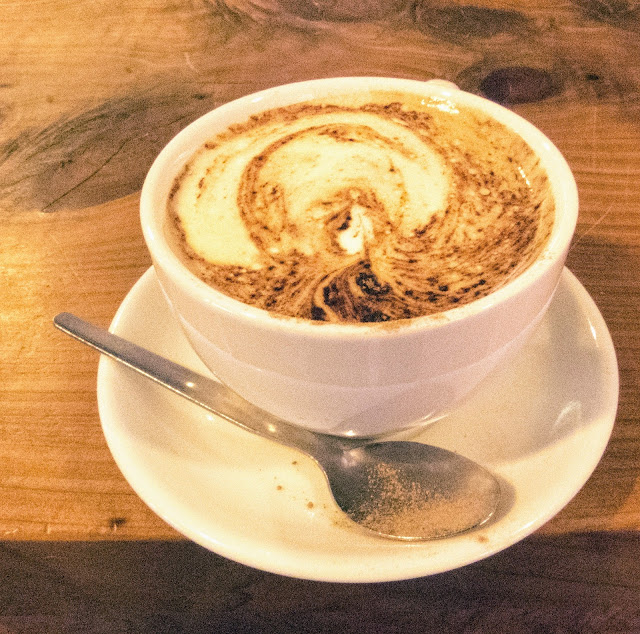 Cappuccino from Kalbos Cafe in the West Cork town of Skibbereen in Ireland