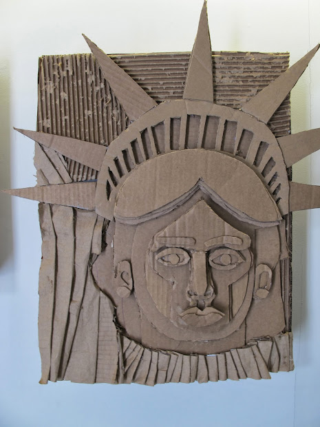 Cardboard Relief Sculpture Art