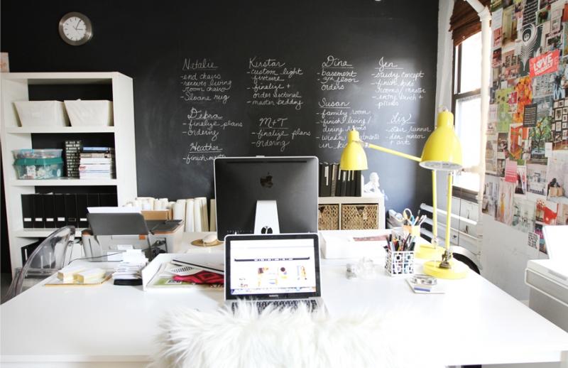 deco paredes de pizarra para oficinas en casa