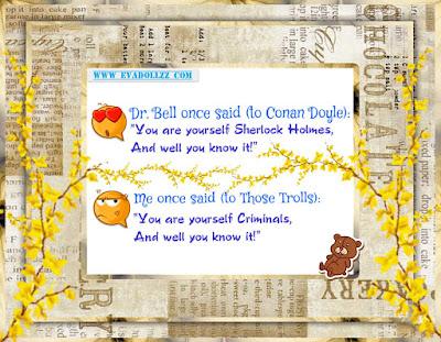 Doyle vs Trolls. Holmes vs Criminals.