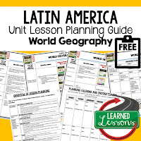 Latin America geography lesson plans, world geography lesson plans, geography activities, world geography games, world geography middle school, world geography high school