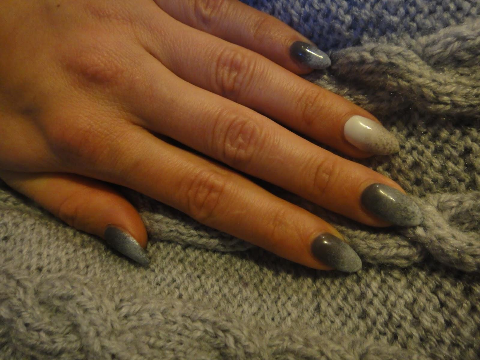Art Nails Dublin Szare Ombre