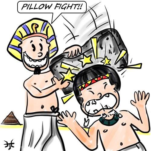 Egyptian stone pillows