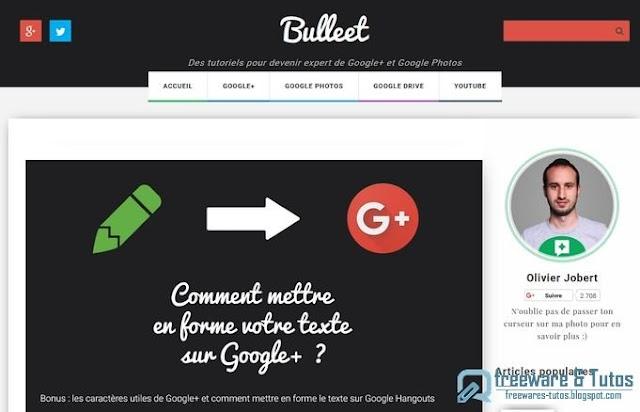 Le site du jour : Bulleet - pour devenir un expert des outils Google