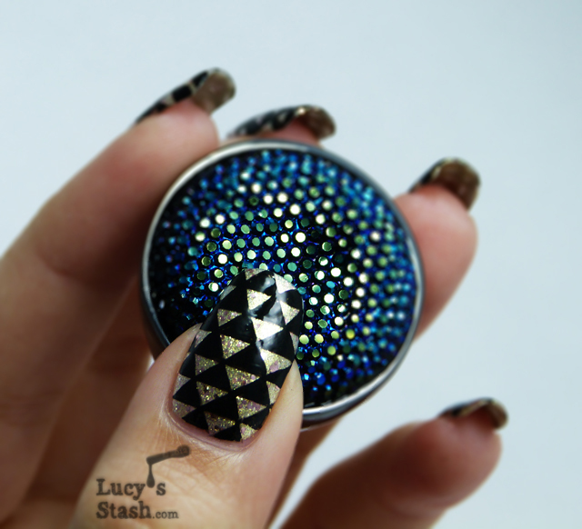 Lucy's Stash - Arrowheads patterned nail art