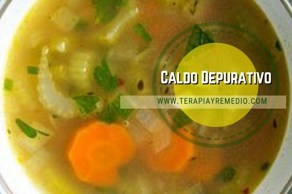 Receta de caldo depurativo vegetal con zanahorias, apio, ajo, comino